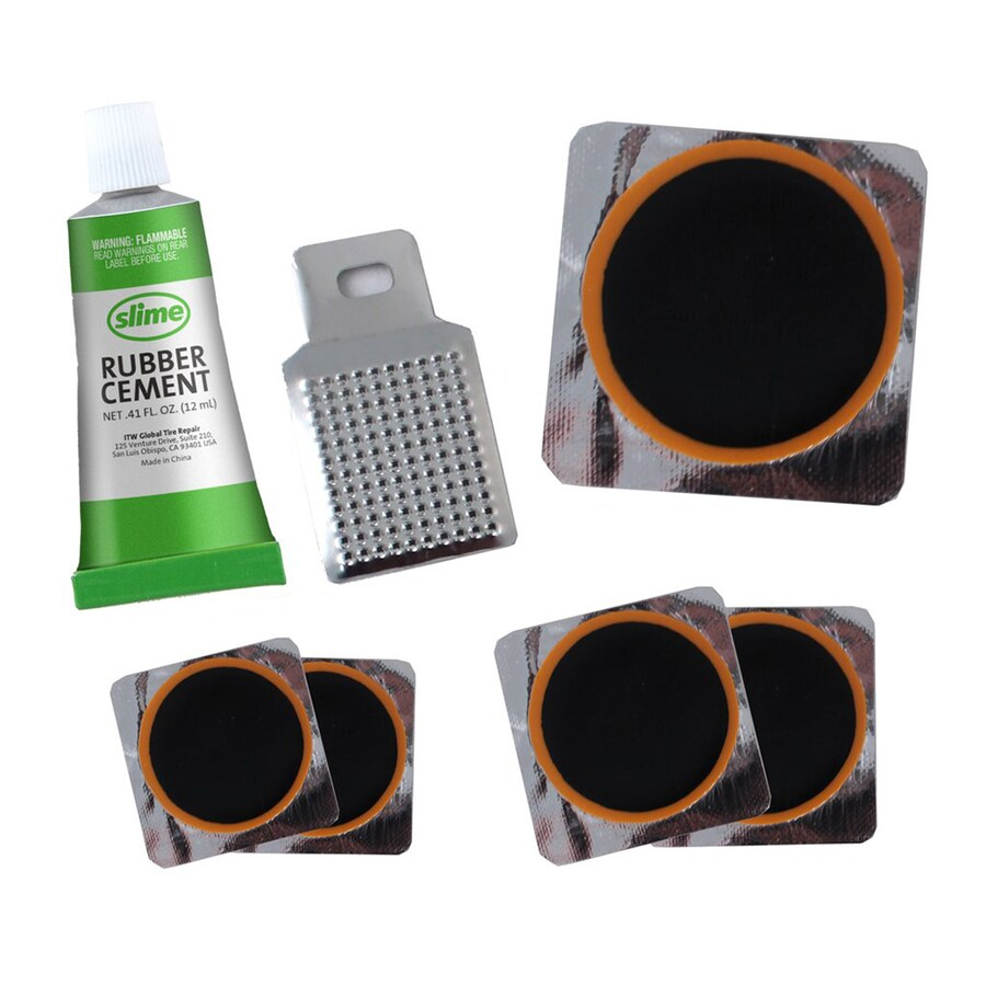 Slime Rubber Patch Kit (5 Patches, Scuffer and Glue)