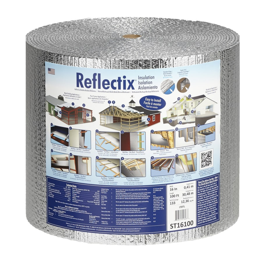 Reflectix 133.3-sq ft Reflective Roll Insulation (16-in W x 100-ft L)