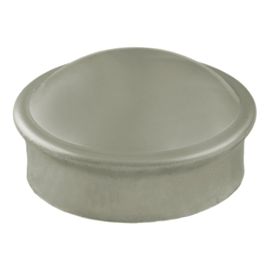 Galvanized Steel Chain-Link Fence Dome Cap (Fits Common Post Measurement: 2-3/8-in; Actual: 2.5-in x 1.25-in)