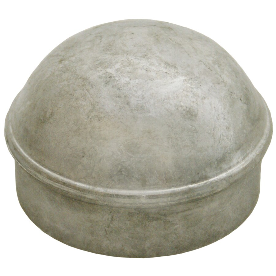Galvanized Steel Chain-Link Fence Dome Cap (Fits Common Post Measurement: 2-7/8-in; Actual: 3-in x 1.37-in)