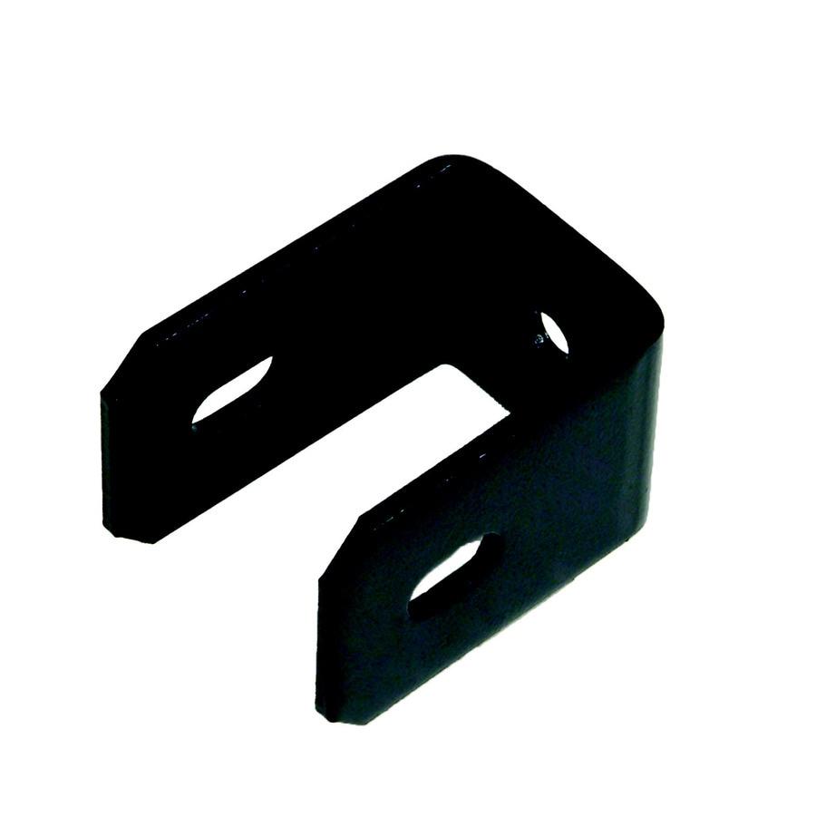 2-Pack Black Steel Fence Universal Brackets