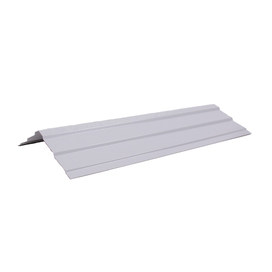 Fabral 5 Rib 14-in x 126-in White Steel Stick Roof Ridge Vent