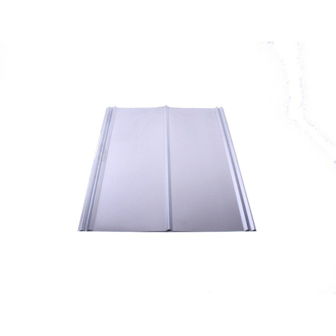 Fabral 5v Crimp 2 16 Ft X 12 Ft Ribbed Silver Metal Roof Panel In The Roof Panels Department At Lowes Com