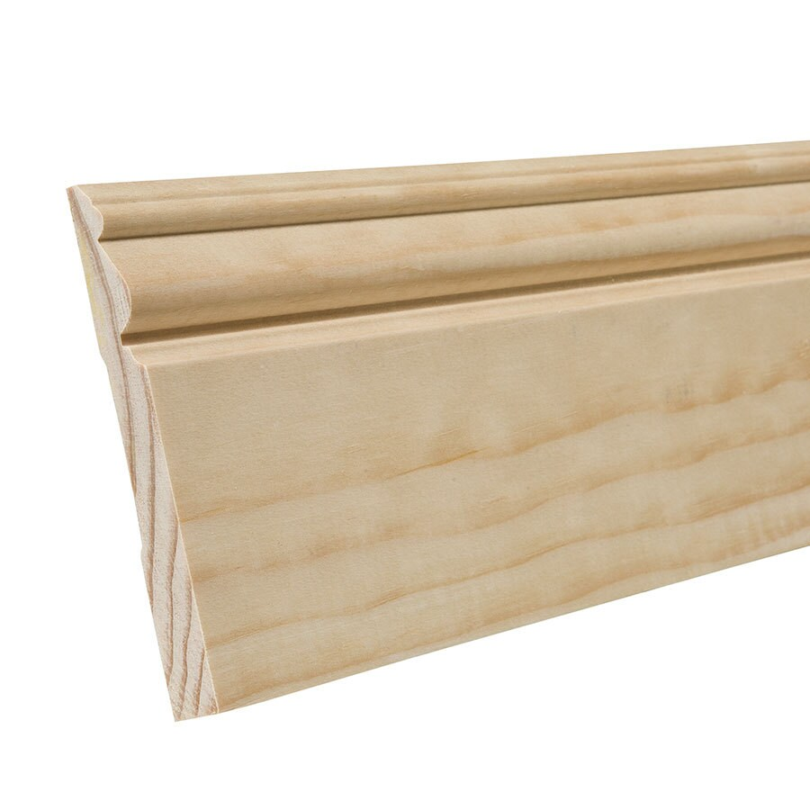 EverTrue 4.5-in x 12-ft Interior Pine Wood Baseboard