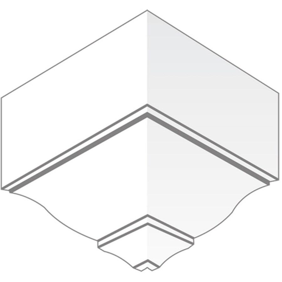 EverTrue 7.25-in x 7.5-in Pine Wood Outside Corner Crown Moulding Block