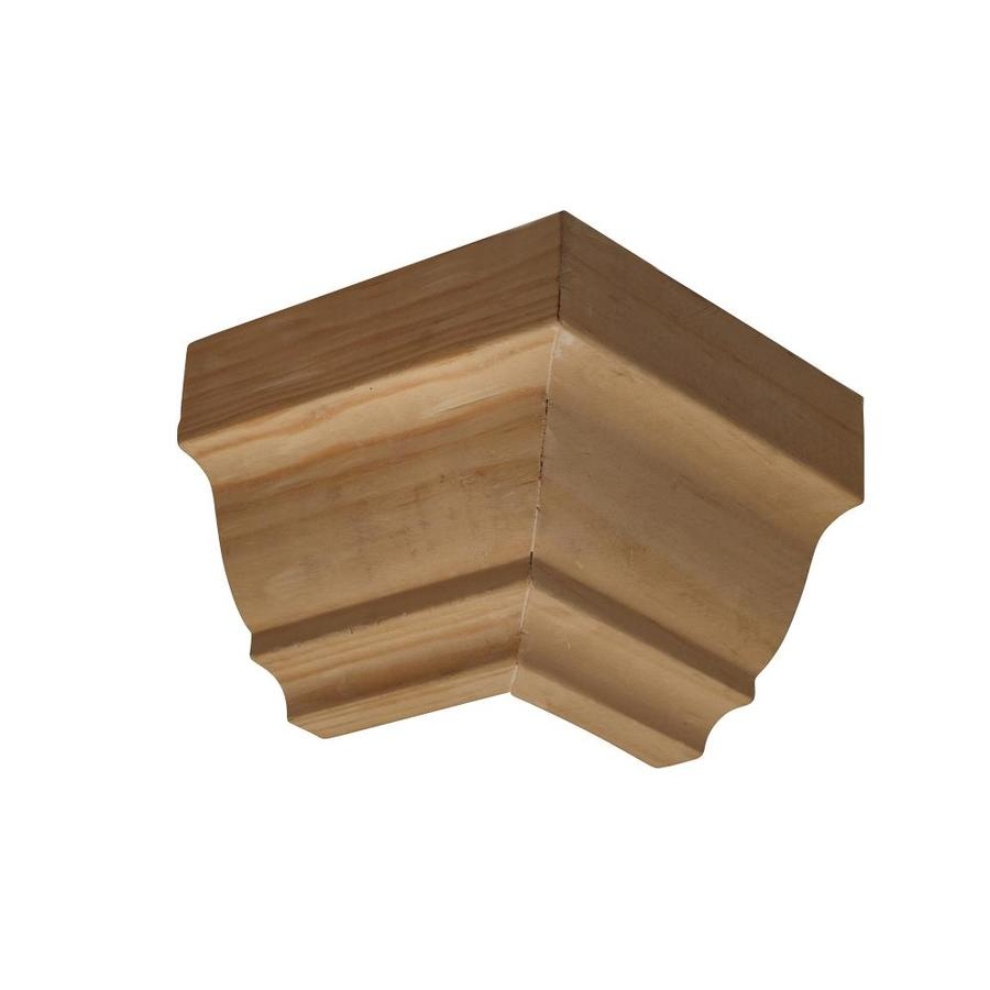 EverTrue 3.5-in x 3.5-in Pine Wood Outside Corner Crown Moulding Block