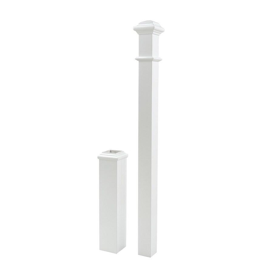 5-in x 56-in Primed White Primed Poplar Wood Stair Newel Post