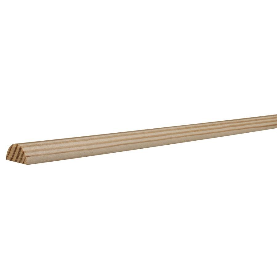 EverTrue 1-in x 96-in Pine Wood Half Round Moulding