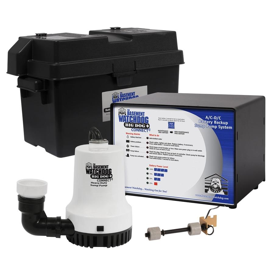 Basement Watchdog 0.33-HP Plastic Battery-Powered Sump Pump