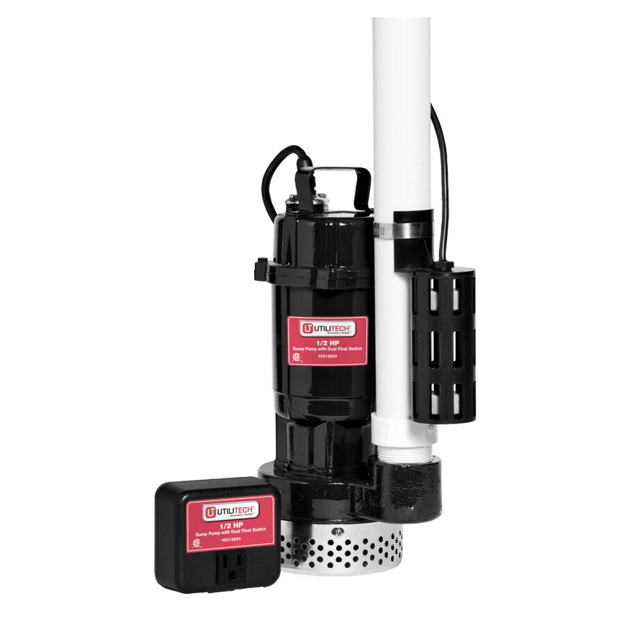 Utilitech 0.5-HP Cast Iron Submersible Sump Pump