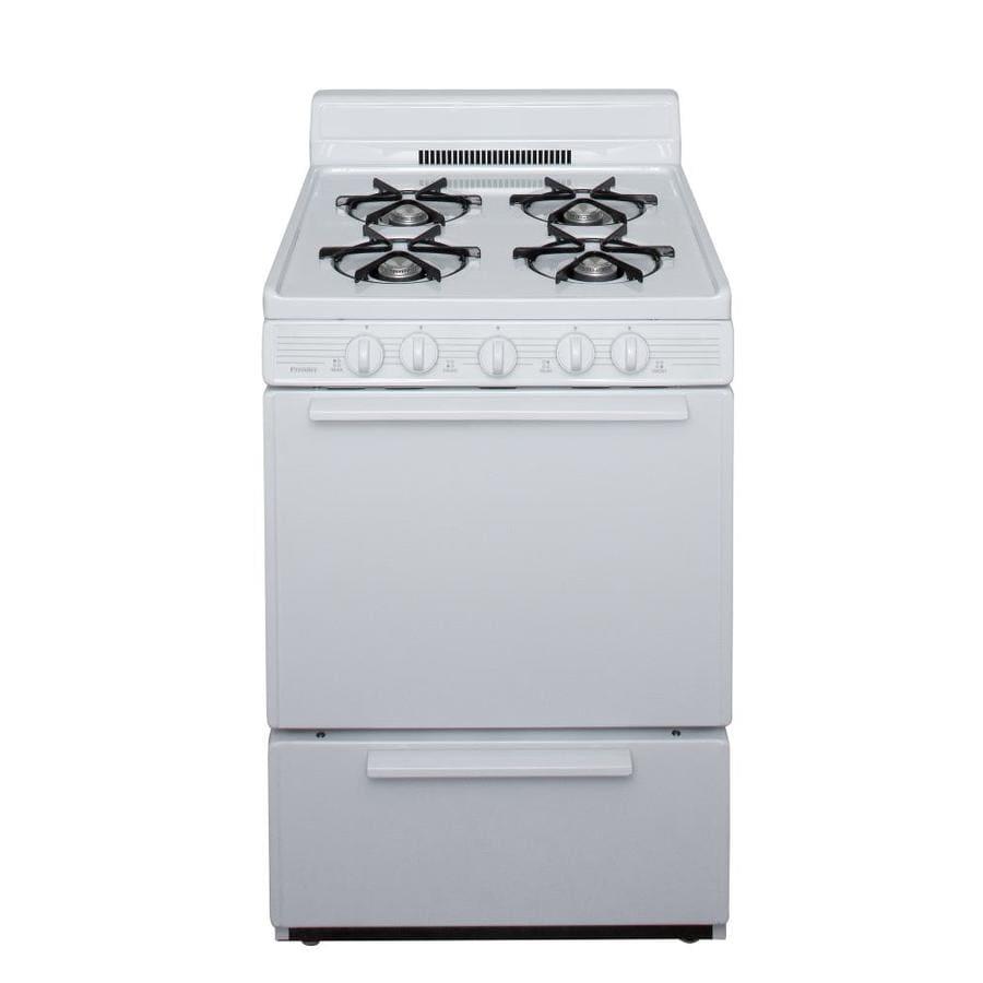 Premier 4-Burner Freestanding 2.9-cu ft Gas Range (White) (Common: 24-in; Actual: 24-in)