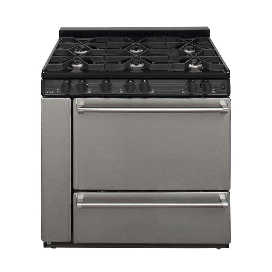 Premier 6-Burner Freestanding 3.9-cu ft Gas Range (Stainless Steel) (Common: 36; Actual: 36-in)