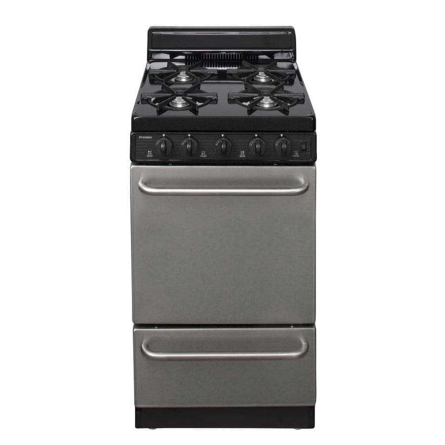 Premier Freestanding 2.4-cu ft Gas Range (Stainless Steel) (Common: 20-in; Actual: 20.12-in)