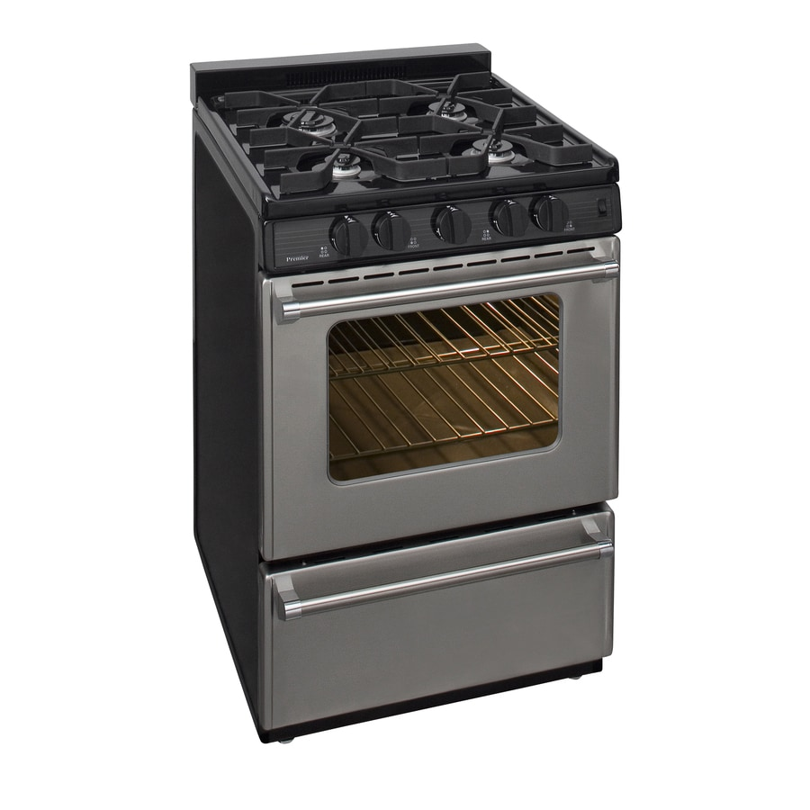 Premier Freestanding 2.9-cu ft Gas Range (Stainless) (Common: 24-in; Actual: 24-in)