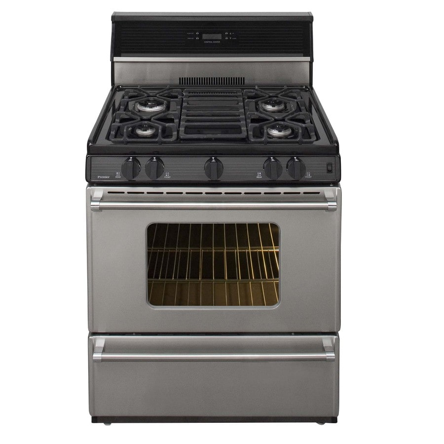 Premier Pro Freestanding 3.9-cu ft Gas Range (Stainless) (Common: 30-in; Actual: 30-in)