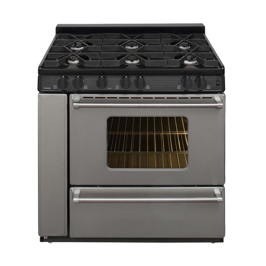 Premier Pro 5-Burner Freestanding 3.9-cu ft Gas Range (Stainless) (Common: 36-in; Actual: 36-in)