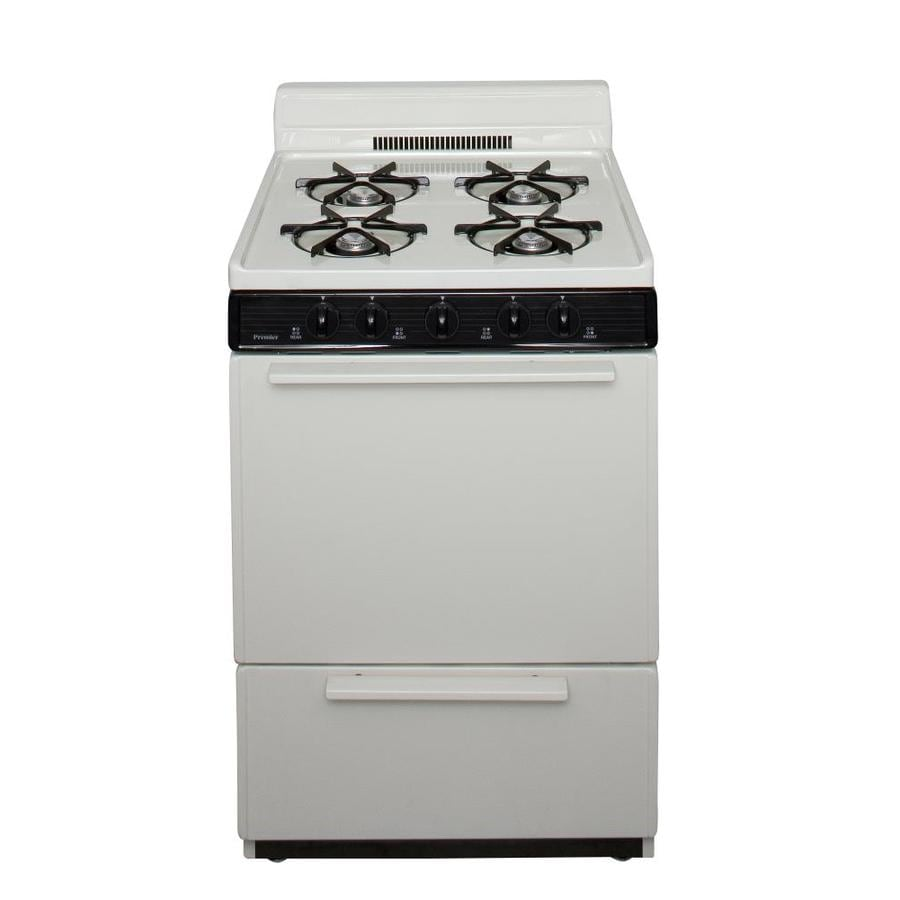 Premier 4-Burner Freestanding 2.9-cu ft Gas Range (Biscuit) (Common: 24-in; Actual: 24-in)