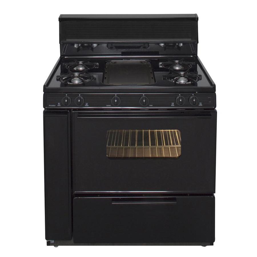 Premier 5-Burner Freestanding 3.9-cu ft Gas Range (Black) (Common: 36-in; Actual: 36-in)