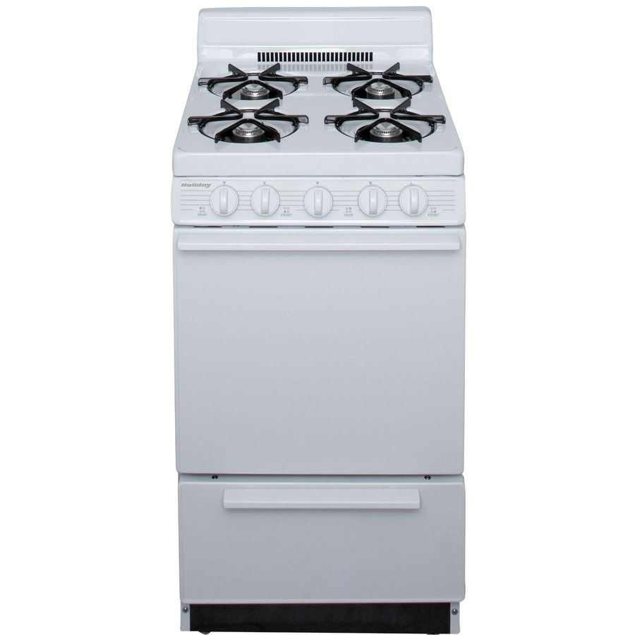Holiday 4-Burner Freestanding 2.4-cu ft Gas Range (White) (Common: 20-in; Actual: 20.125-in)