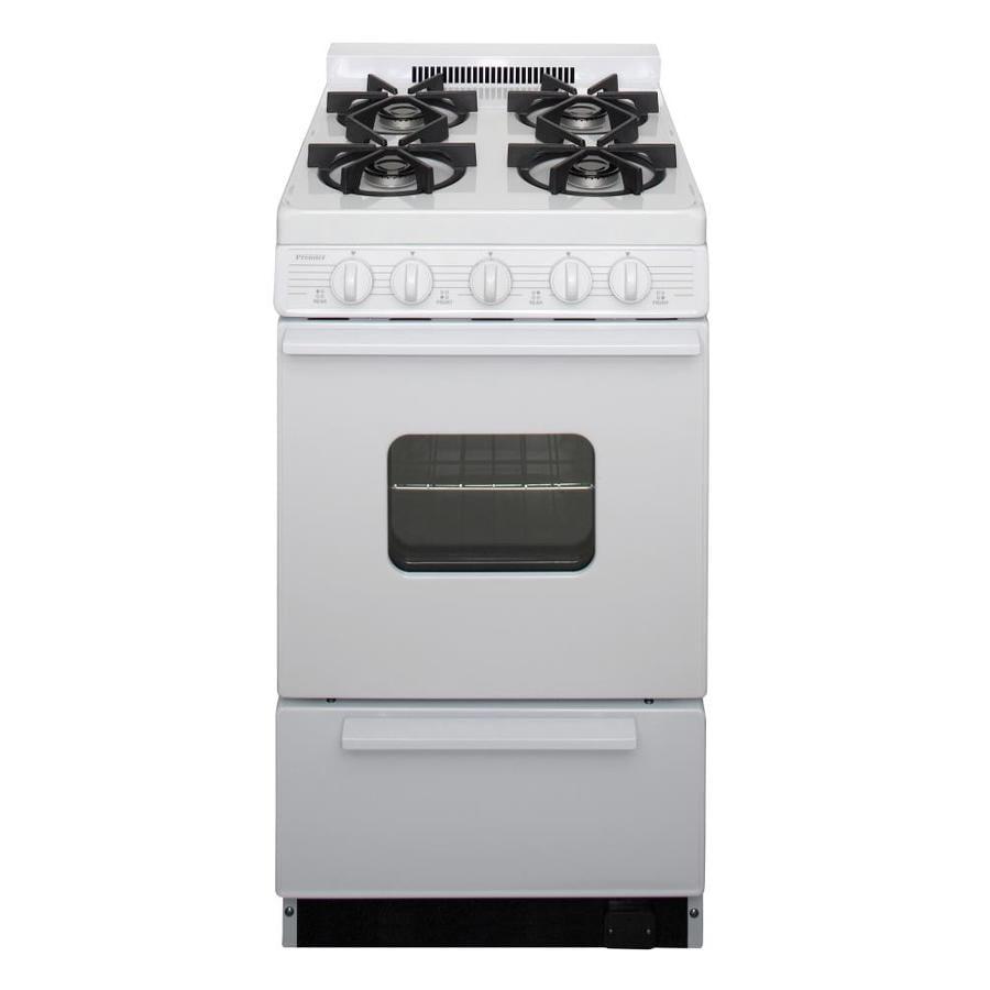 Premier 4 burner freestanding 2 4 cu ft gas range white common 20