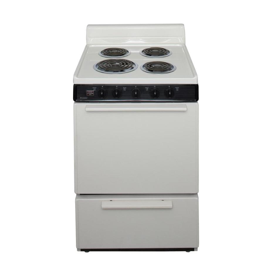 Premier Freestanding 2.9-cu ft Electric Range (Biscuit) (Common: 24-in; Actual: 24-in)