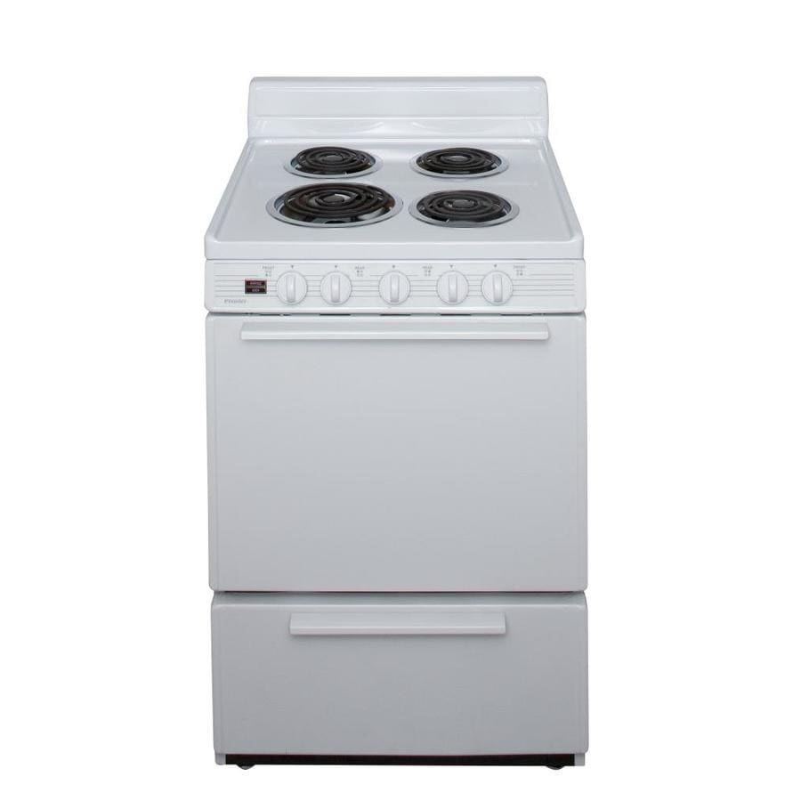 Premier Freestanding 2.9-cu ft Electric Range (White) (Common: 24-in; Actual: 24-in)