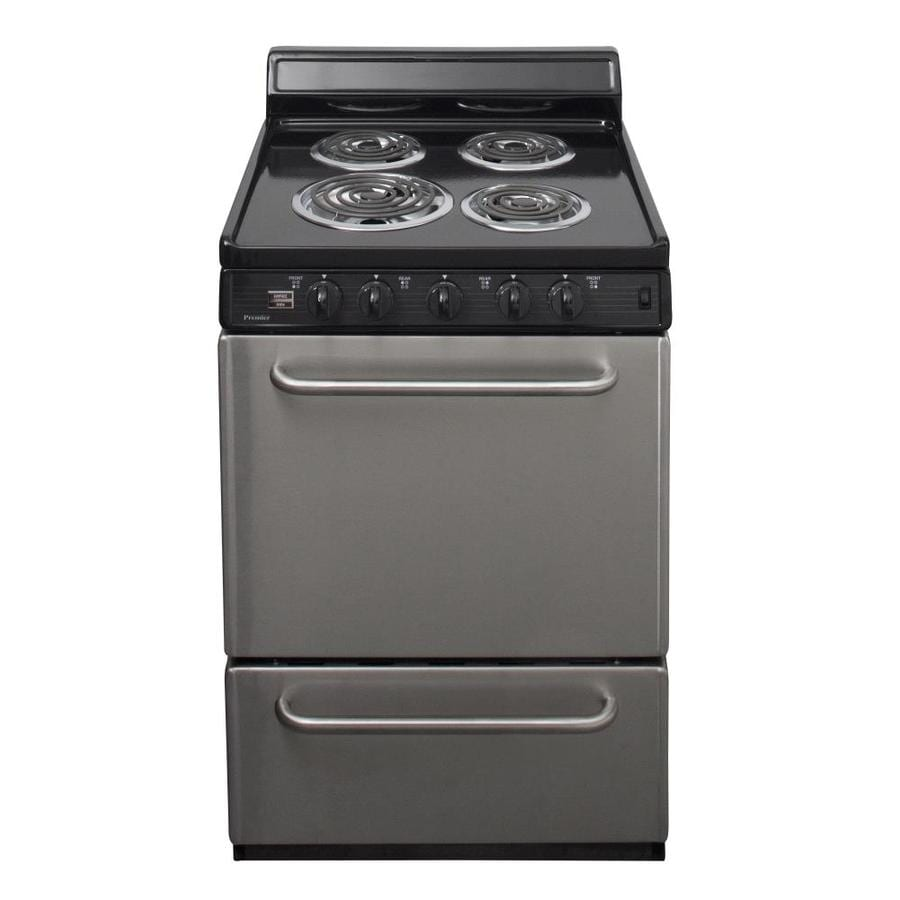 Premier Freestanding 2.9-cu ft Electric Range (Stainless) (Common: 24-in; Actual: 24-in)