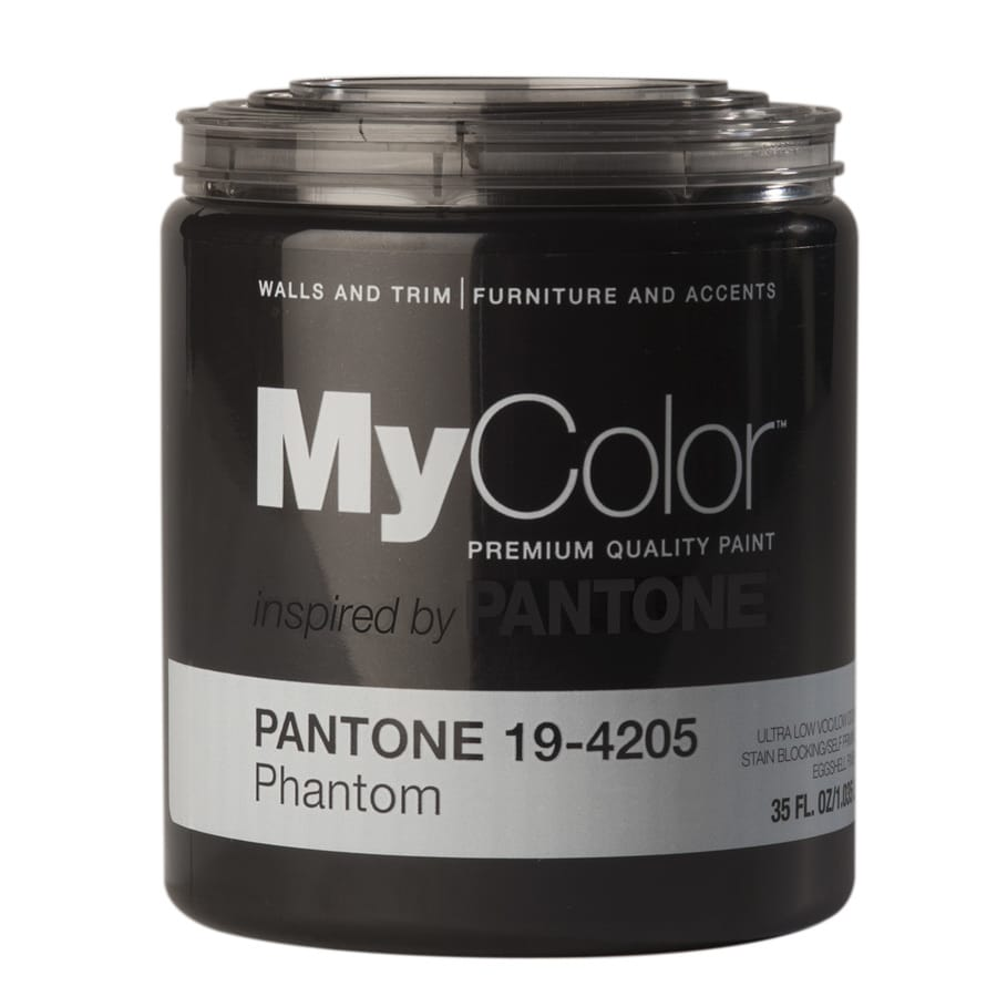 MyColor inspired by PANTONE 35-fl oz Interior Eggshell Phantom Water-Base Paint and Primer in One
