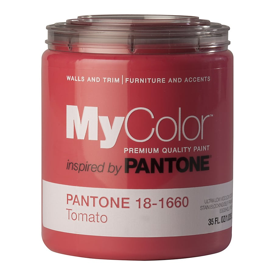 MyColor inspired by PANTONE 35-fl oz Interior Eggshell Tomato Water-Base Paint and Primer in One