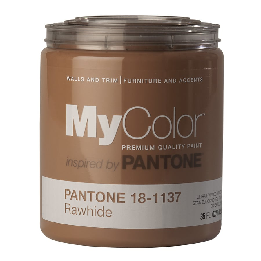 MyColor inspired by PANTONE 35-fl oz Interior Eggshell Rawhide Water-Base Paint and Primer in One