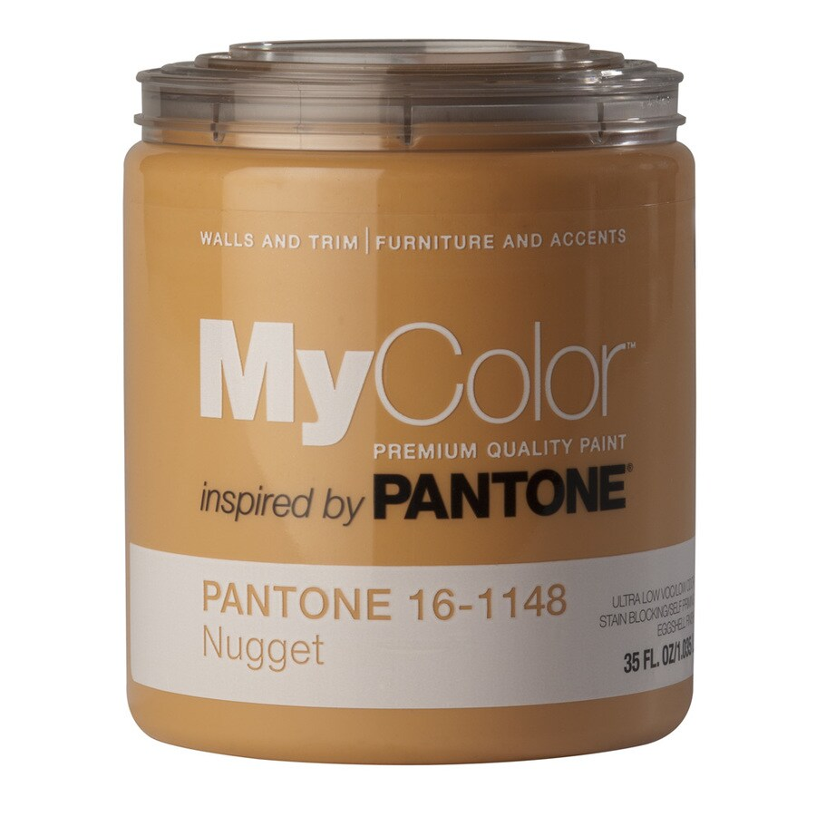 MyColor inspired by PANTONE 35-fl oz Interior Eggshell Nugget Water-Base Paint and Primer in One