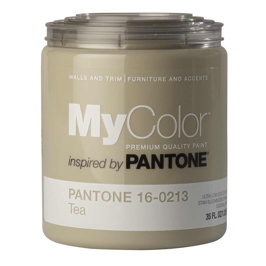MyColor inspired by PANTONE 35-fl oz Interior Eggshell Tea Water-Base Paint and Primer in One