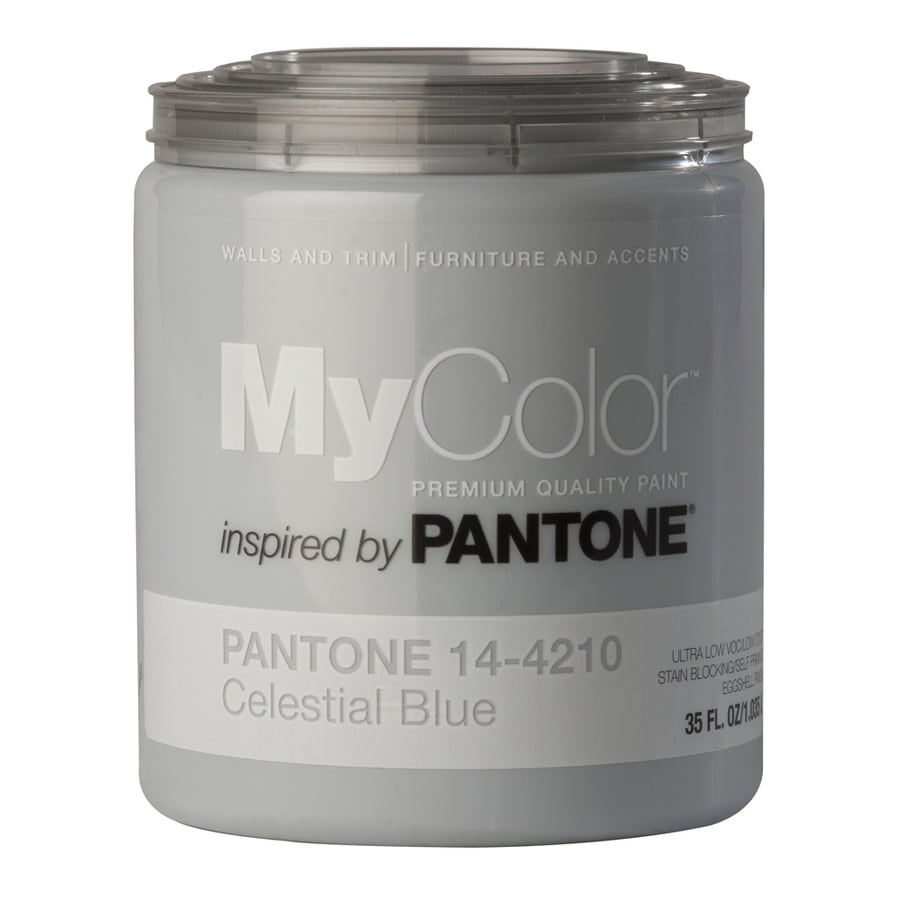 MyColor inspired by PANTONE 35-fl oz Interior Eggshell Celestial Blue Water-Base Paint and Primer in One