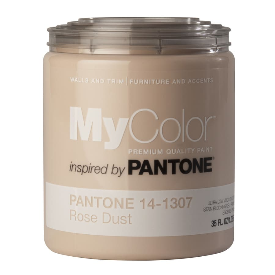 MyColor inspired by PANTONE 35-fl oz Interior Eggshell Rose Dust Water-Base Paint and Primer in One