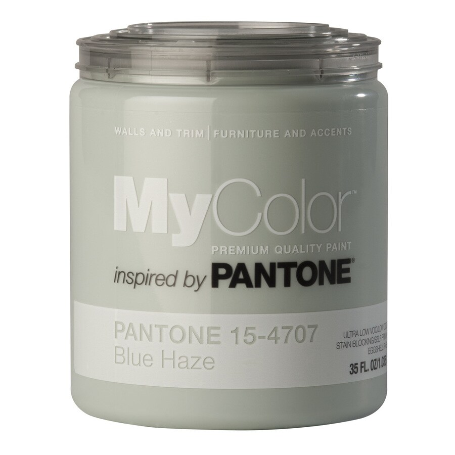 MyColor inspired by PANTONE 35-fl oz Interior Eggshell Blue Haze Water-Base Paint and Primer in One