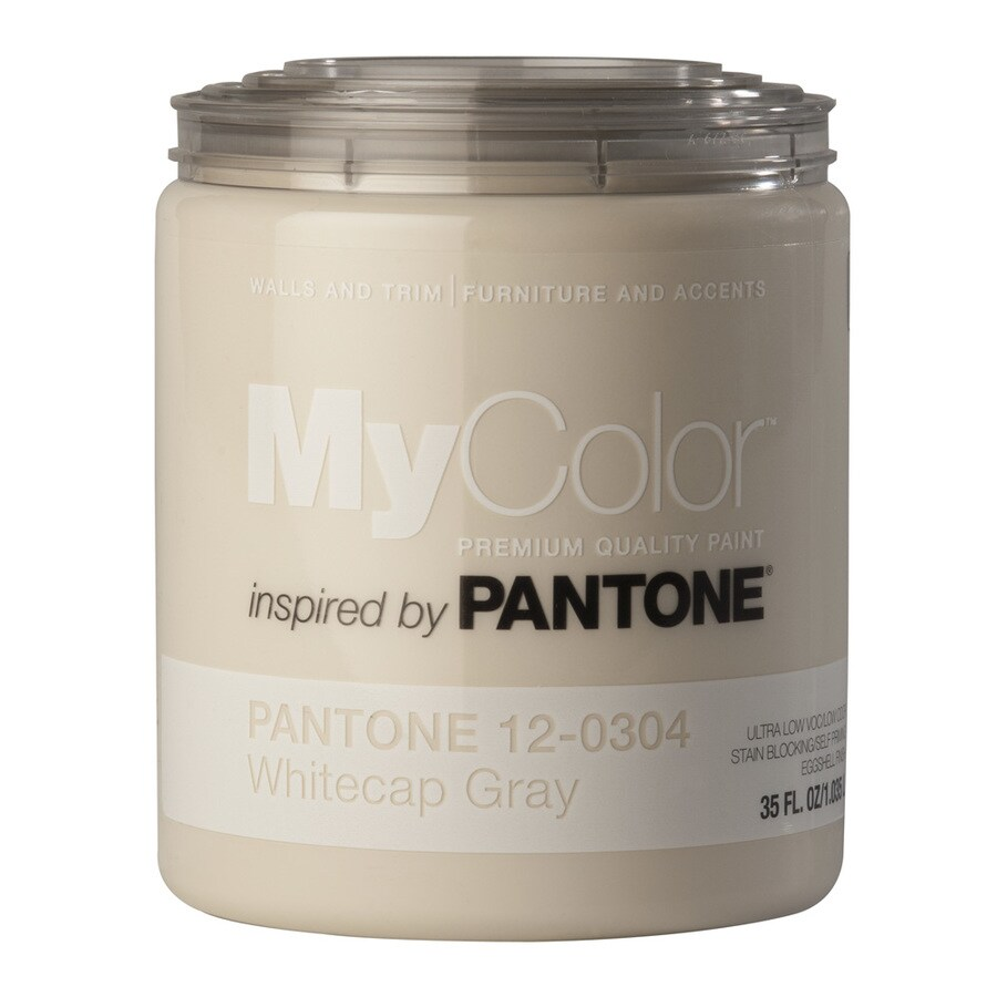 MyColor inspired by PANTONE 35-fl oz Interior Eggshell Whitecap Gray Water-Base Paint and Primer in One