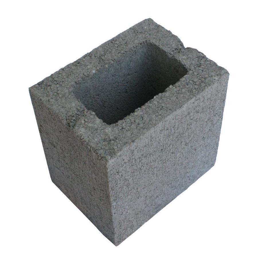 Half Concrete Block (Common: 6-in x 8-in x 8-in; Actual: 5.5-in x 7.5-in x 7.5-in)