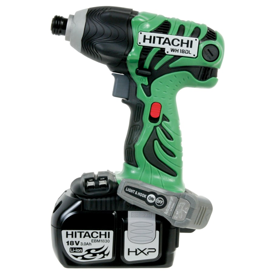 Hitachi 18DL 18-Volt 1/4-in Cordless Variable Speed Impact Driver with Hard Case