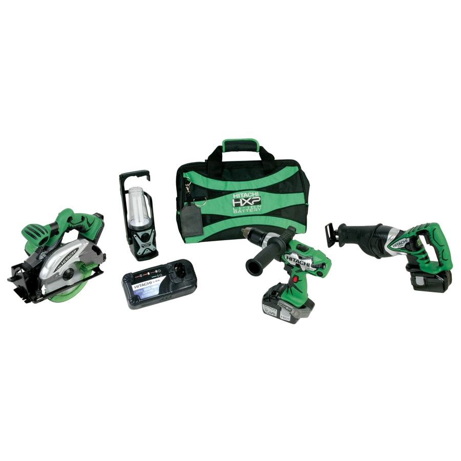 Hitachi 4-Tool 18-Volt Lithium Ion Cordless Combo Kit with Soft Case