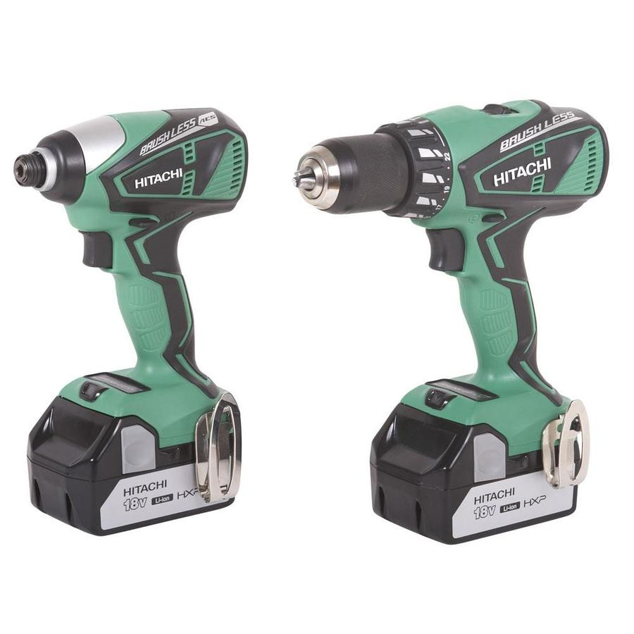 Hitachi 2-Tool 18-Volt Lithium Ion (Li-ion) Brushless Motor Cordless Combo Kit with Hard Case