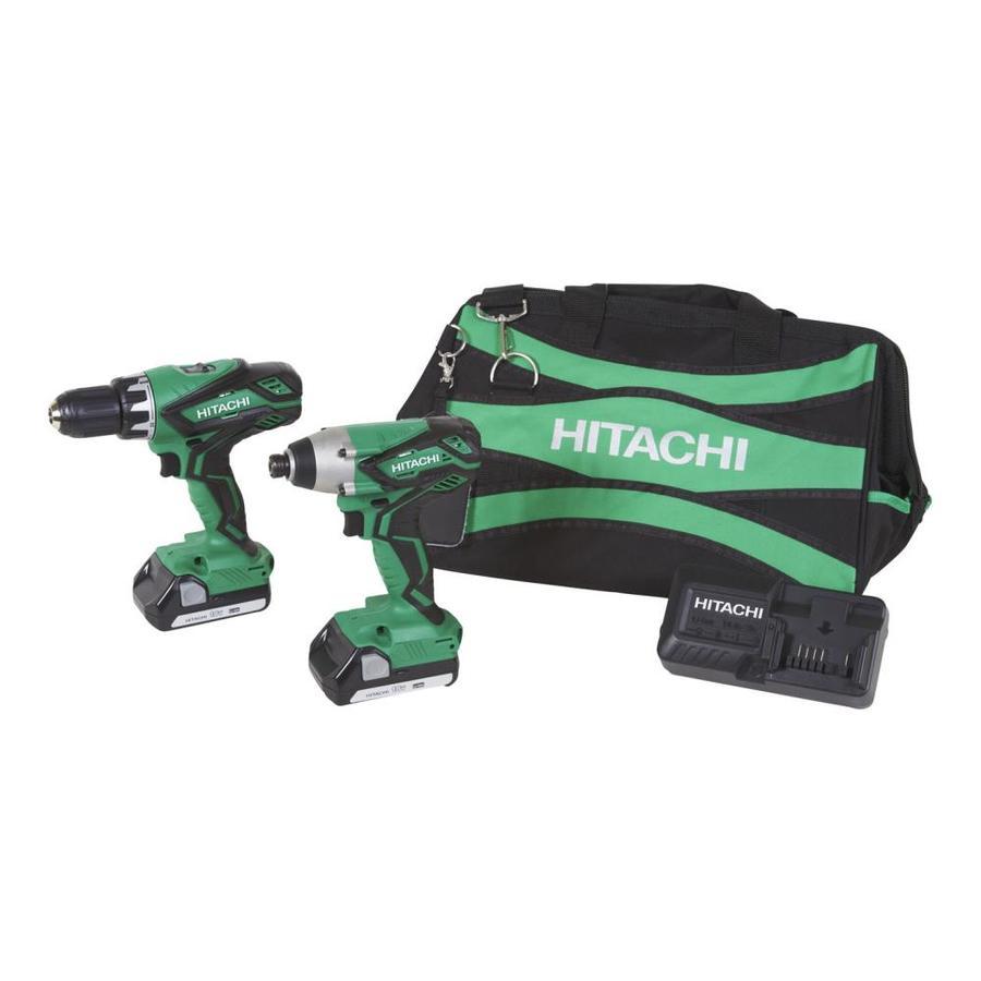 Hitachi 18-Volt- Lithium Ion (Li-ion) Cordless Combo Kit with Soft Case