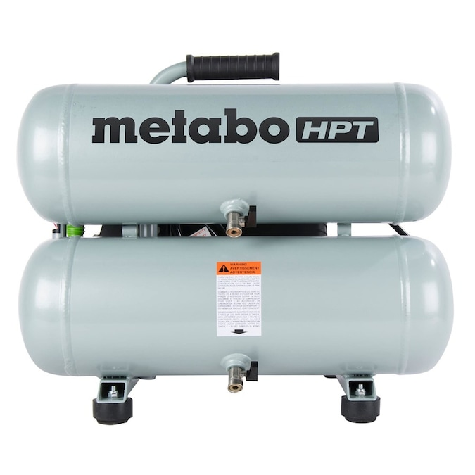 Metabo HPT (was Hitachi Power Tools) 4-Gallon Single Stage Portable Electric Twin Stack Air Compressor