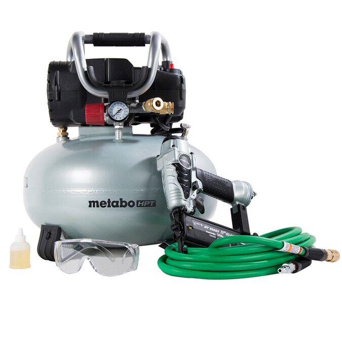 Metabo HPT (was Hitachi Power Tools) 6-Gallon Single Stage Portable Electric Pancake Air Compressor with Accessories (1-Tool Included)