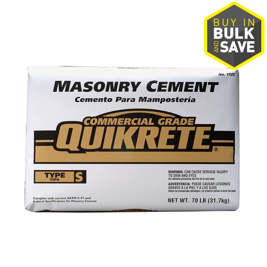 QUIKRETE Masonry 70-lb Gray Type-S Cement Mix