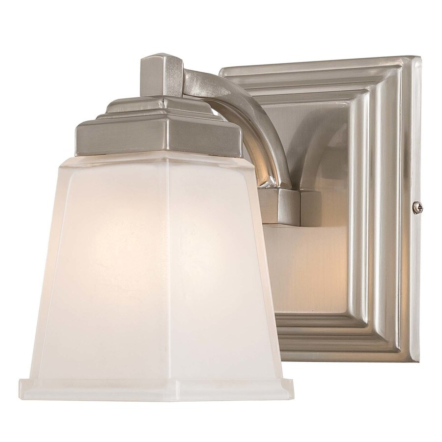 allen + roth Elloree 1-Light Brushed Nickel Vanity Light