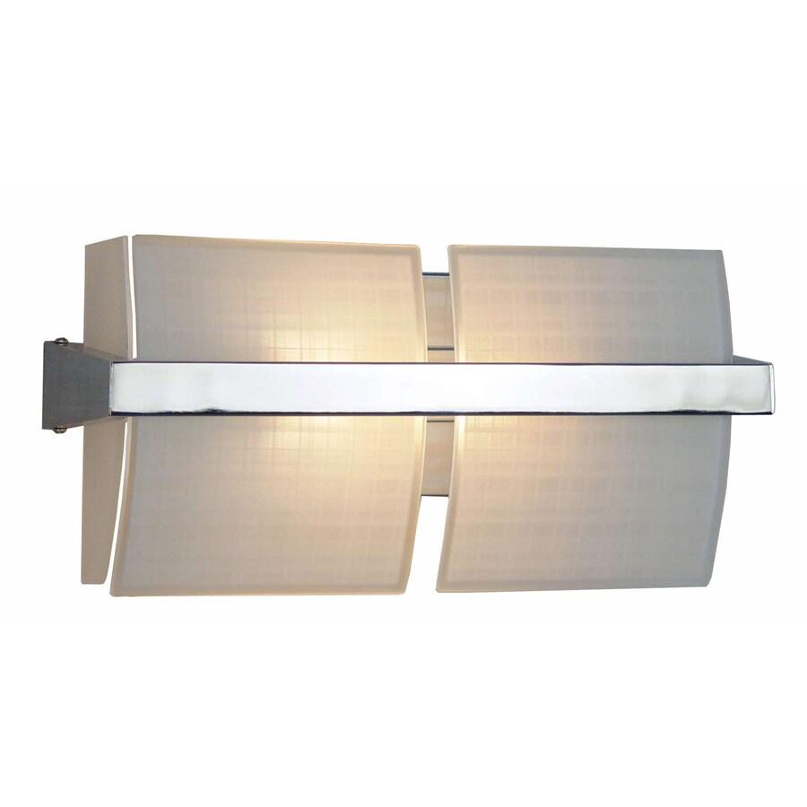 Style Selections 2-Light Adner Chrome Bathroom Vanity Light