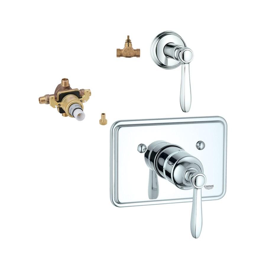 GROHE 3-Pack Chrome Bathtub/Shower Handles