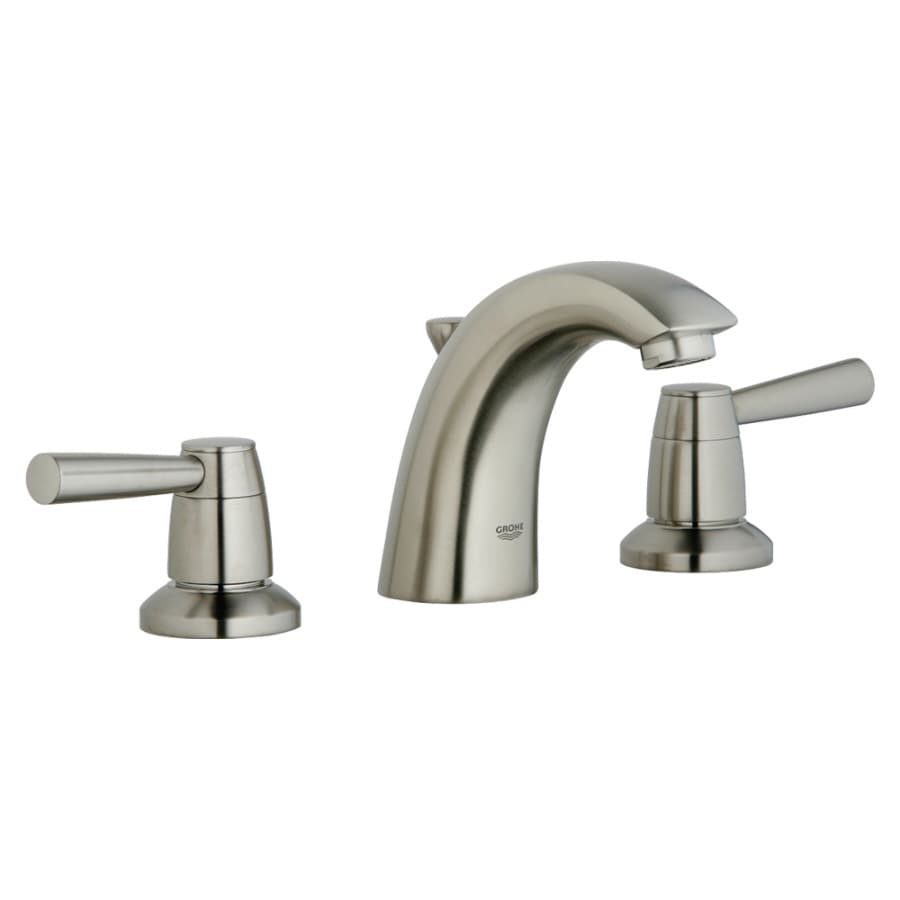 Shop grohe arden brushed nickel 2 handle widespread for Grohe faucets