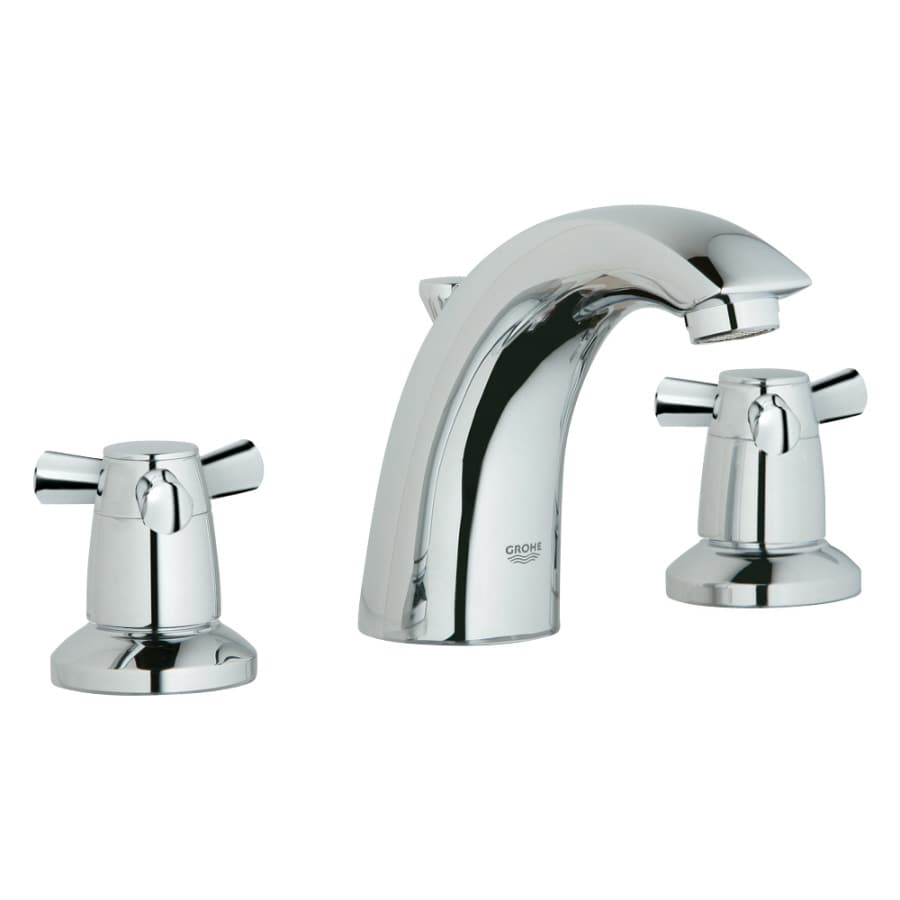 GROHE Arden Chrome 2-Handle Widespread Bathroom Faucet (Drain Included)