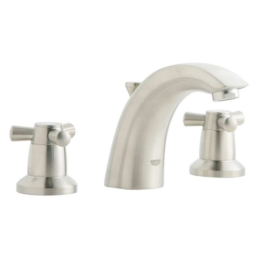 Shop Grohe Arden Brushed Nickel 2 Handle Widespread Bathroom Faucet Drain Included At